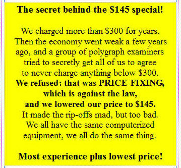 Los Angeles Polygraph best price guaranteed